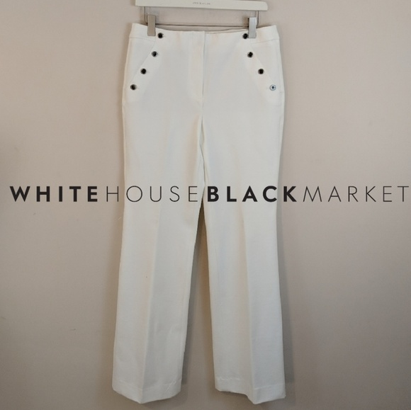 White House Black Market Pants - WHBM • Winter White Trouser Pants [Pants]